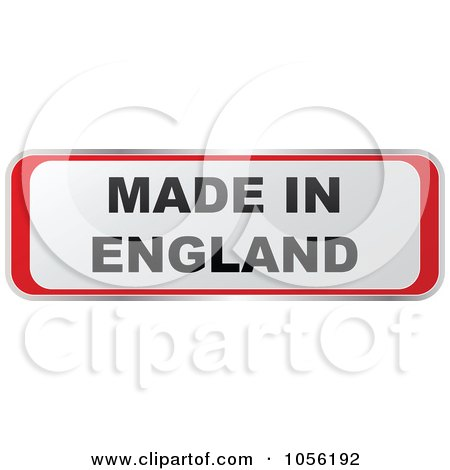 Royalty-Free Vector Clip Art Illustration of a Red And White MADE IN ENGLAND Sticker by Andrei Marincas
