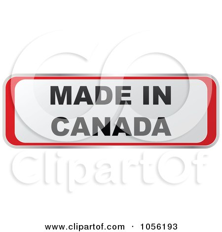 Royalty-Free Vector Clip Art Illustration of a Red And White MADE IN CANADA Sticker by Andrei Marincas