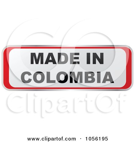 Royalty-Free Vector Clip Art Illustration of a Red And White MADE IN COLOMBIA Sticker by Andrei Marincas