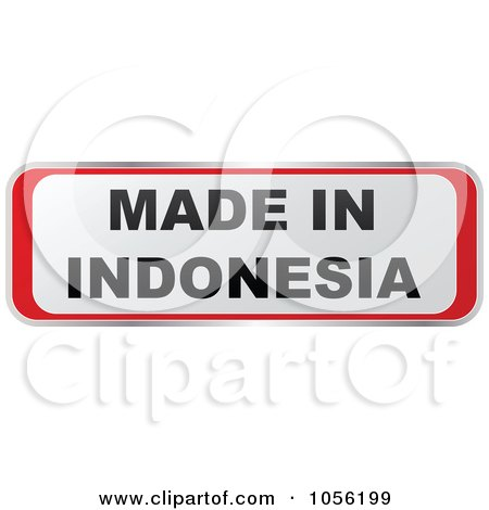 Royalty-Free Vector Clip Art Illustration of a Red And White MADE IN INDONESIA Sticker by Andrei Marincas