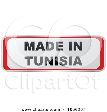 Royalty-Free Vector Clip Art Illustration of a Red And White MADE IN TUNISIA Sticker by Andrei Marincas