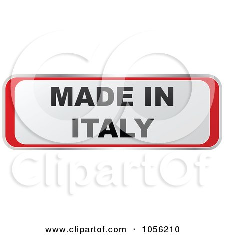 Royalty-Free Vector Clip Art Illustration of a Red And White MADE IN ITALY Sticker by Andrei Marincas