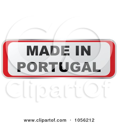 Royalty-Free Vector Clip Art Illustration of a Red And White MADE IN PORTUGAL Sticker by Andrei Marincas