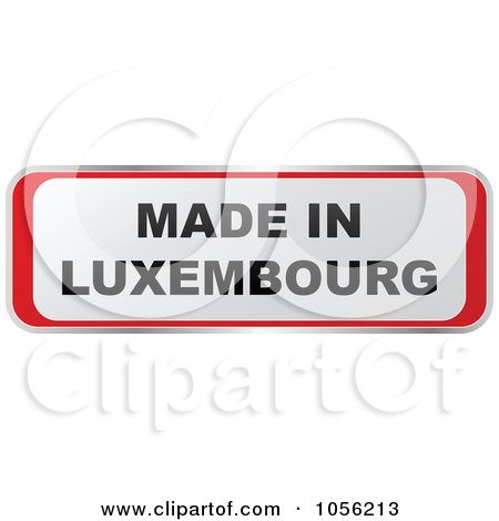 Royalty-Free Vector Clip Art Illustration of a Red And White MADE IN LUXEMBOURG Sticker by Andrei Marincas