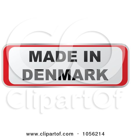 Royalty-Free Vector Clip Art Illustration of a Red And White MADE IN DENMARK Sticker by Andrei Marincas