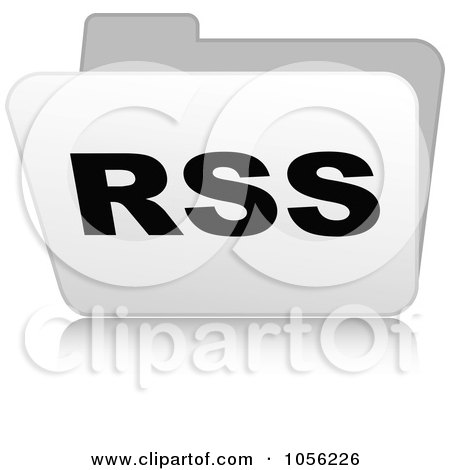 Royalty-Free Vector Clip Art Illustration of a White 3d Rss Folder - 2 by Andrei Marincas