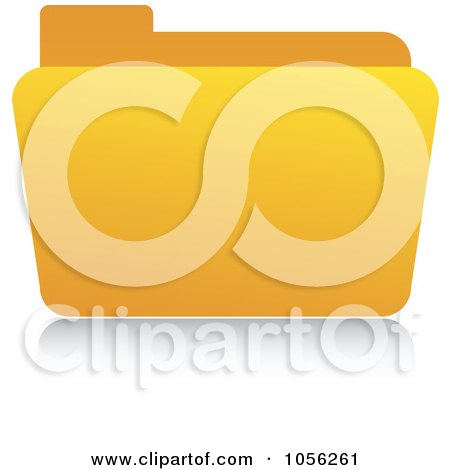 Royalty-Free Vector Clip Art Illustration of a Yellow 3d Folder And Reflection by Andrei Marincas
