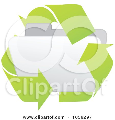 Royalty-Free Vector Clip Art Illustration of a White 3d Recycle Folder by Andrei Marincas
