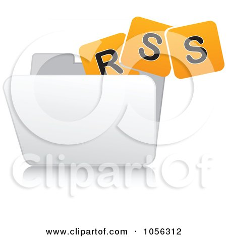 Royalty-Free Vector Clip Art Illustration of a White 3d Rss Folder - 1 by Andrei Marincas