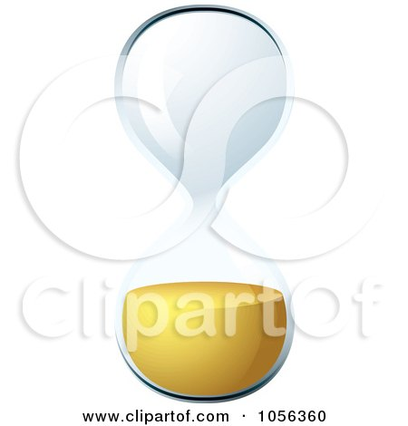 Royalty-Free Vector Clip Art Illustration of a 3d Egg Timer Hourglass Out Of Time by michaeltravers