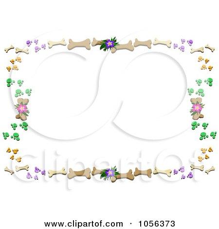 Royalty-Free Vector Clip Art Illustration of a Frame Of Dog Bones ...