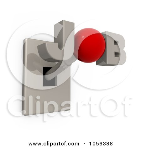 Royalty-Free CGI Clip Art Illustration of a 3d JOB Switch by 3poD