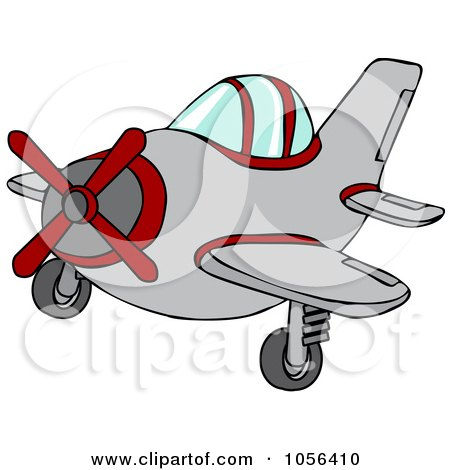 Royalty-Free Vector Clip Art Illustration of a Small Plane by djart