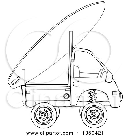 Royalty-Free Vector Clip Art Illustration of a Surf Board On A Surf Truck by djart