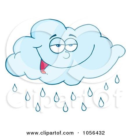 Clip Art Rain Cloud. Royalty-Free Vector Clip Art