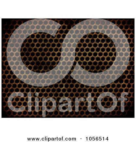 Royalty-Free CGI Clip Art Illustration of a Grungy Metal Grill Background by KJ Pargeter