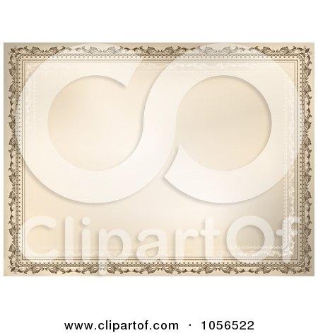 Royalty-Free Vector Clip Art Illustration of a Vintage Ornate Certificate Frame by KJ Pargeter