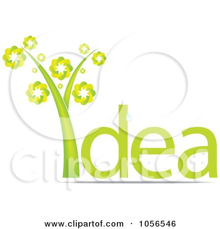 Royalty-Free Vector Clip Art Illustration of a Tree As The I In The Word IDEA by Andrei Marincas