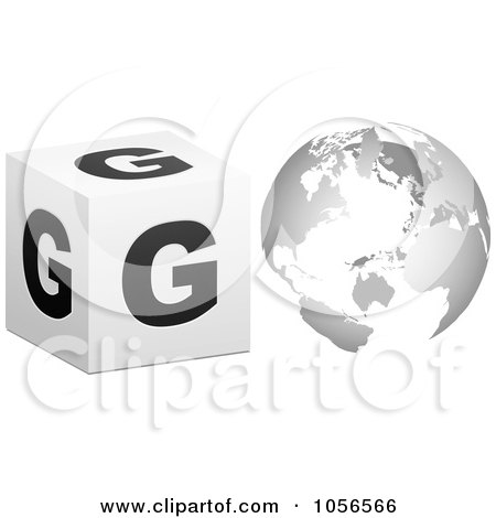 Royalty-Free Vector Clip Art Illustration of a 3d Go With A Globe As The O - 2 by Andrei Marincas