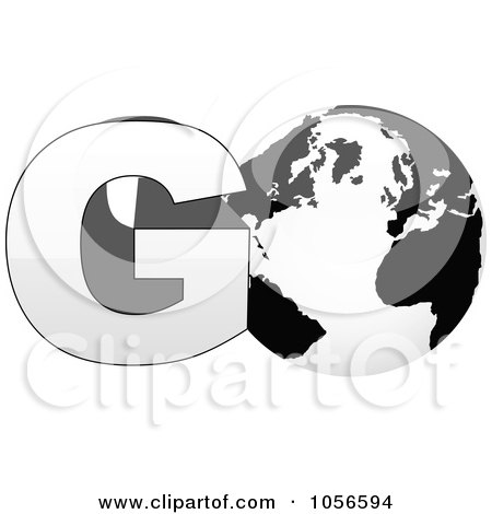 Royalty-Free Vector Clip Art Illustration of a 3d Go With A Globe As The O - 1 by Andrei Marincas