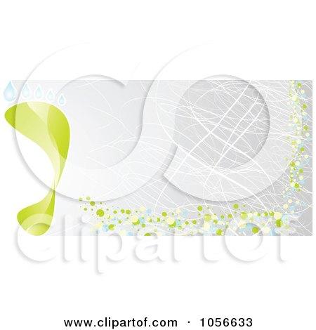 Royalty-Free Vector Clip Art Illustration of a Green Footprint Gray Banner by Andrei Marincas