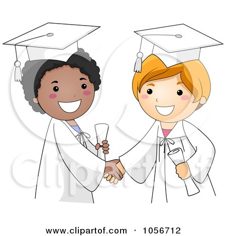 Two Graduate Boys Shaking Hands Posters, Art Prints
