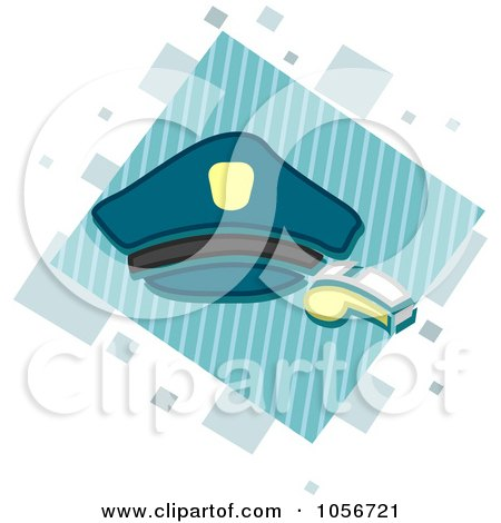Royalty-Free Vector Clip Art Illustration of a Police Icon by BNP Design Studio