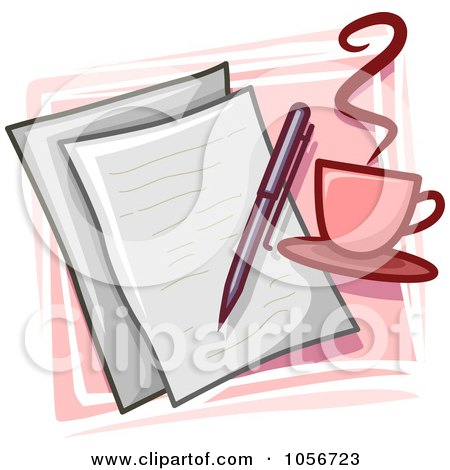Royalty-Free Vector Clip Art Illustration of a Writer Icon by BNP Design Studio