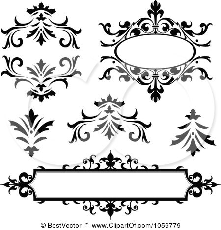 Funny Picture Frames on Of Vintage Black And White Frames And Design Elements By Bestvector