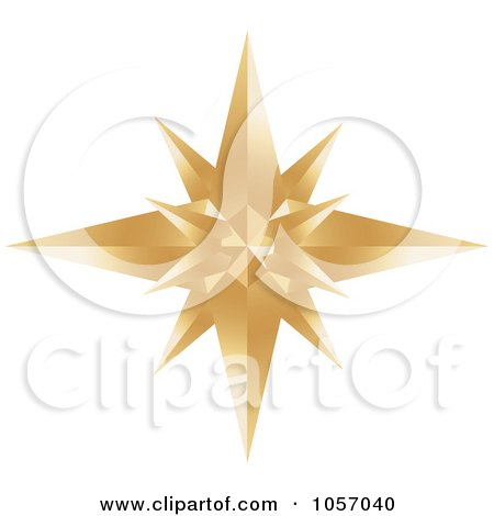 Royalty-Free Vector Clip Art Illustration of a Golden Star Burst Icon by Alexia Lougiaki
