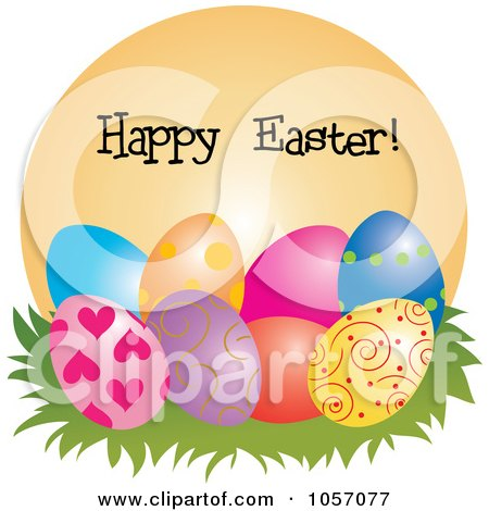 Royalty-Free Vector Clip Art Illustration of a Happy ... Easter Clip Art Free Small