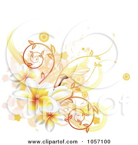 Plumeria Flower Line Drawing Royalty-free vector clip art