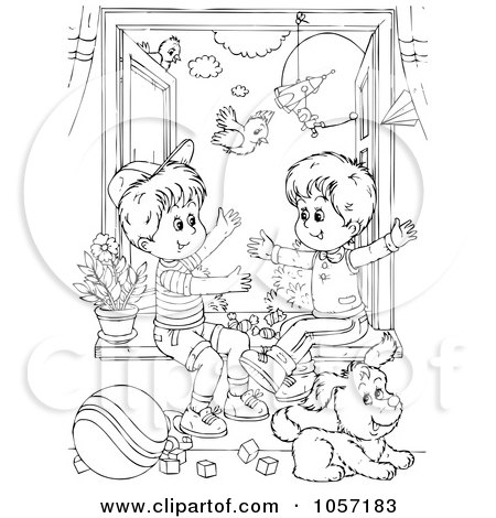 Royalty Free Rf Clipart Of Brothers Illustrations