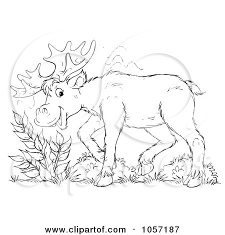 camp moose on the loose coloring pages | Royalty-Free Clip Art Illustration of a Coloring Page ...