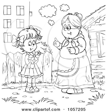 Search results for gingerbread man running coloring page for Old lady coloring page