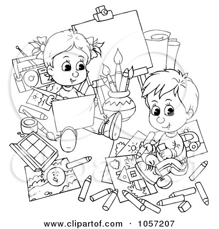 Kids Colorings Pages on Coloring Page Outline Of Children Coloring By Alex Bannykh  1057207