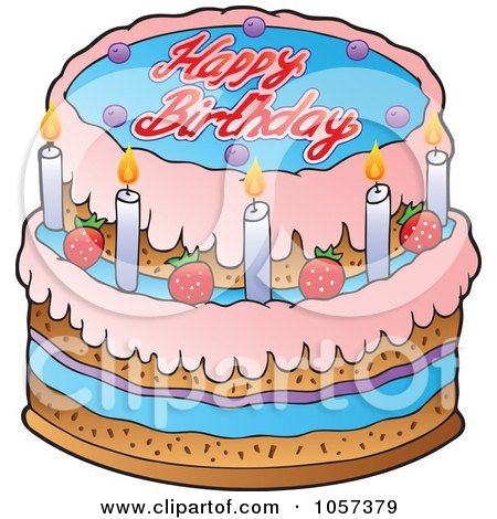 Royalty Free Bday Cake Illustrations By Visekart Page 1