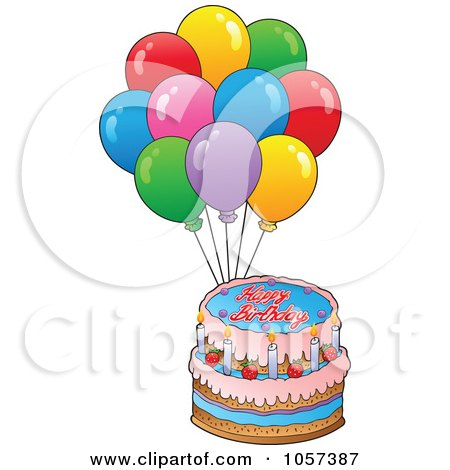 Cake And Balloons Clipart : Party Balloons Clipart Cake Ideas and Designs