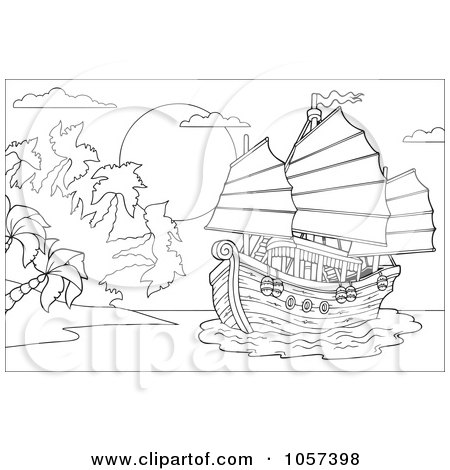 china flag coloring page. of a Coloring Page Outline