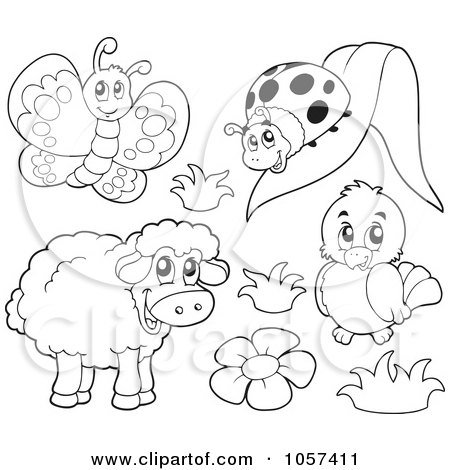 Spring Coloring Sheets on Royalty Free Vector Clip Art Illustration Of A Coloring Page Outline