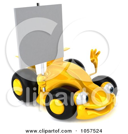 Auto Racing Free Clip  on Royalty Free Cgi Clip Art Illustration Of A 3d Yellow Formula One Race