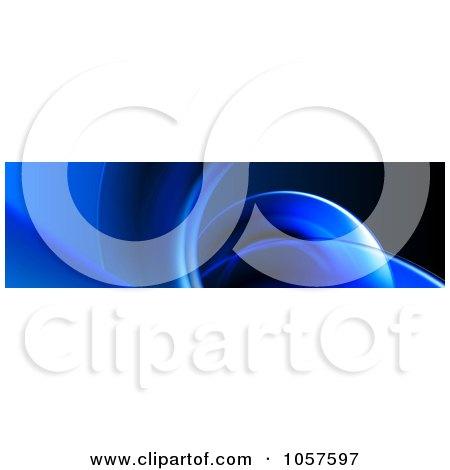 Royalty-Free CGI Clip Art Illustration of a Blue Curve Website Banner by chrisroll