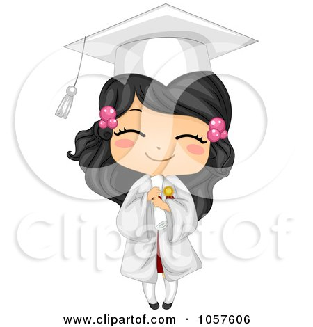 Cute Graduate Girl Holding Her Diploma And Smiling Posters, Art Prints