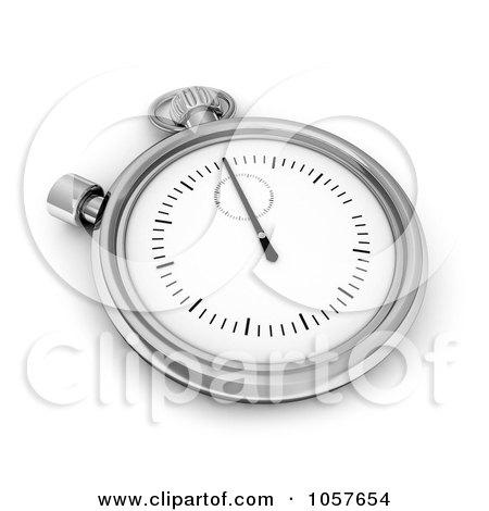 Royalty-Free CGI Clip Art Illustration of a 3d Timer Pocket Watch by BNP Design Studio