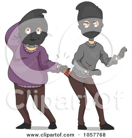 Royalty-Free Vector Clip Art Illustration of Funny Burglars by BNP Design Studio