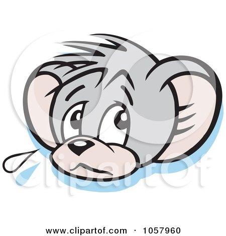 Royalty-Free Vector Clip Art Illustration of a Sad Micah Mouse Crying by Johnny Sajem