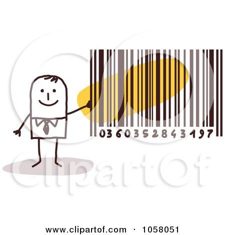 barcode vector art. Holding A Bar Code