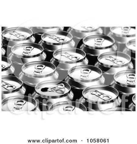 Clipart Two Red 3d Soda Cans - Royalty Free Vector ...