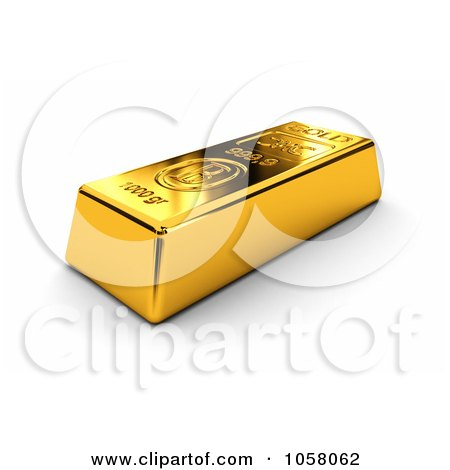 3d Golden Bullion Bar Posters, Art Prints
