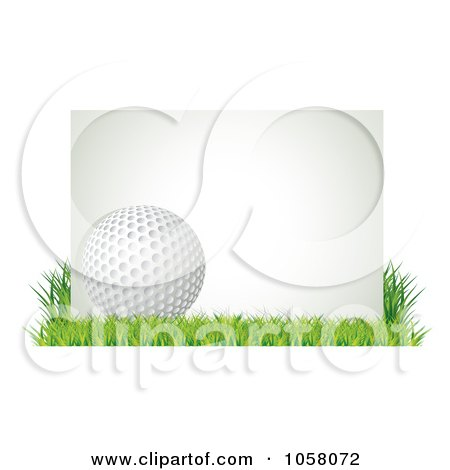 golf ball vector. of a 3d Golf Ball With A